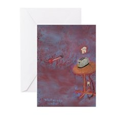 Scared Toast: What Do You Aim Greeting Cards (Pk o