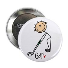 "Golf Stick Figure 2.25"" Button"