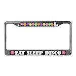 Eat Sleep Disco License Plate Frame