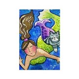 MERMAID & CATFISH No.7...Refrigerator Magnet