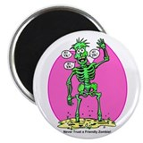 "Funny Friendly Zombie 2.25"" Magnet (10 pack)"