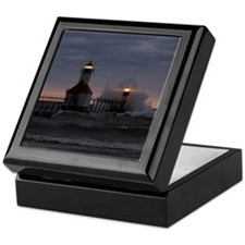 St Joe North Pier Lighthouses Keepsake Box