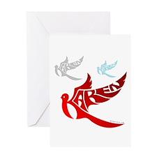 Karen ( 3 Birds ) Greeting Card