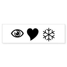 Eye Love Snow Bumper Bumper Sticker