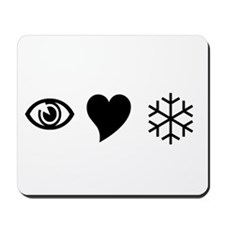 Eye Love Snow Mousepad
