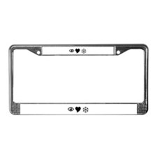 Eye Love Snow License Plate Frame