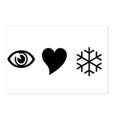 Eye Love Snow Postcards (Package of 8)