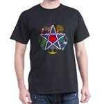 Celtic Pentagram Black T-Shirt