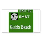 Parkway Exit 82 Rectangle Sticker 10 pk)