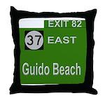 Parkway Exit 82 Throw Pillow
