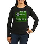 Parkway Exit 82 Women's Long Sleeve Dark T-Shirt