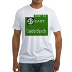 Parkway Exit 82 Fitted T-Shirt