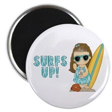 "Surfs Up 2.25"" Magnet (10 pack)"