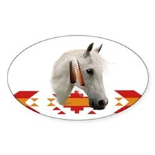 Indian Pony Oval Decal