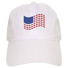 Goldwing Motorcycle Flag Tee Baseball Cap