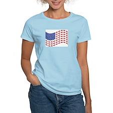 Goldwing Motorcycle Flag Tee T-Shirt