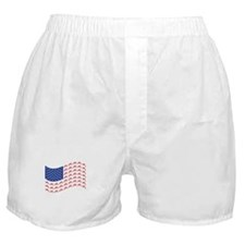 Motocross Bike patriotic Flag Boxer Shorts