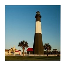 Tybee Island Lighthouse Tile Coaster
