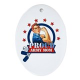 Rosie Proud Army Mom Oval Ornament