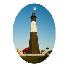 Tybee Island Lighthouse Oval Ornament