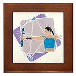 Rainbow Archer Framed Tile
