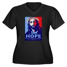 Jesus Our greatest Hope Women's Plus Size V-Neck D