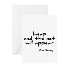 Leap and the net will appear Greeting Cards (Pk of