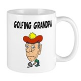 Golfing Grandpa Small Mugs