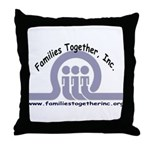 Families Together, Inc. Throw Pillow
