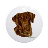 Choc Lab Holiday Ornament (Round)