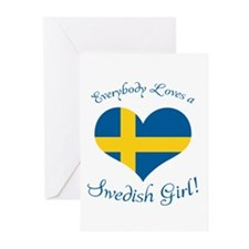 Swedish Girl Greeting Cards (Pk of 20)
