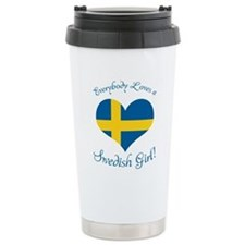 Swedish Girl Ceramic Travel Mug