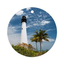 Cape Florida Lighthouse Ornament (Round)