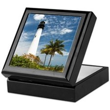 Cape Florida Lighthouse Keepsake Box