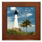 Cape Florida Lighthouse Framed Tile