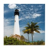 Cape Florida Lighthouse Tile Coaster