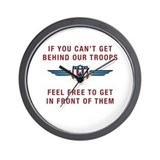 Get Behind Our Troops Wall Clock