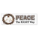 Peace Sign / Jesus Bumper Sticker