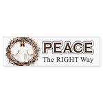 Peace Sign / Jesus Bumper Sticker