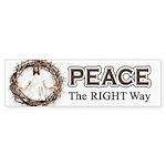 Peace Sign / Jesus Bumper Sticker (50 pk)