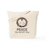 Peace Sign / Jesus Tote Bag