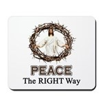Peace Sign / Jesus Mousepad