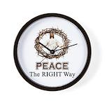 Peace Sign / Jesus Wall Clock