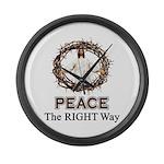 Peace Sign / Jesus Large Wall Clock