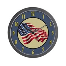 United States Of America Flag Wall Clock