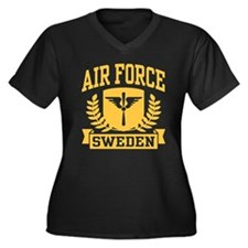 Swedish Air Force Women's Plus Size V-Neck Dark T-