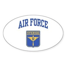 Sverige Air Force Oval Stickers