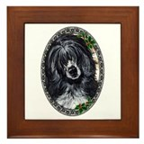 Elegant Portuguese Water Dog Framed Tile