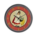Farm Girl Wall Clock