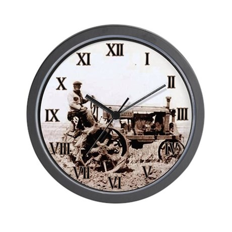 Vintage Tractor Wall Clock